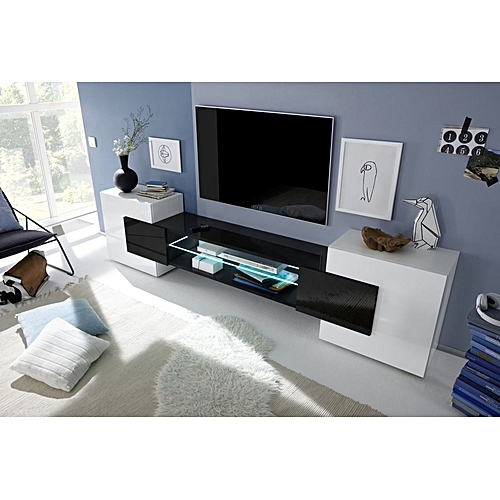 Roman Incastro Low TV Stand - Nero Lucido - High Gloss Finish Black and  White 03b5f0e9fc