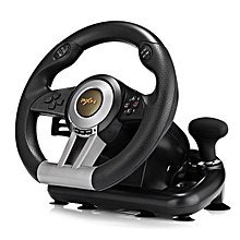 LEBAIQI PXN V3II Racing Game Steering Wheel with Brake Pedal Compatible for Switch