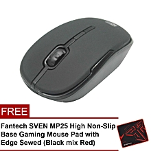 Fantech W545 2.4 Ghz Wireless Professional Office Mouse with Precision Scroll Button (Black) HT