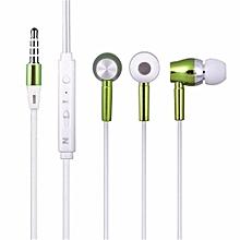 Luminous Headphone Glow Earphone Night Light Glowing Headset Stereo Sport Headphones With Microphone Green