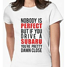White Nobody is Perfect T-shirt