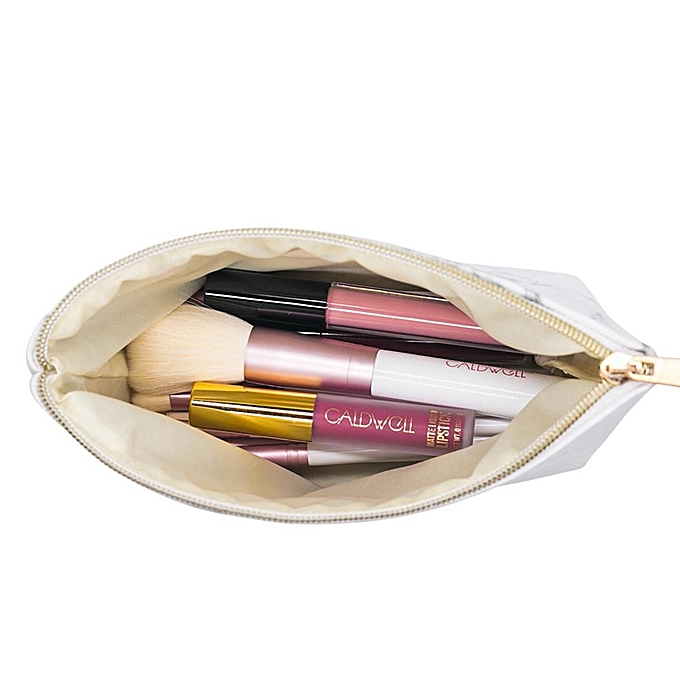 3e8443347343 PU Leather Cosmetic Bag Make Up Marble Portable Ladies Travel Case Makeup  Brushes Organizer Storage Pouch Toiletry Wash Kit Bags