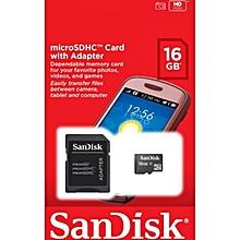 MicroSD Memory Card - 16GB - Black