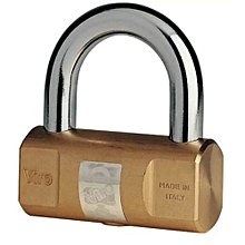 105 Cylindrical Brass padlock 80mm Italy