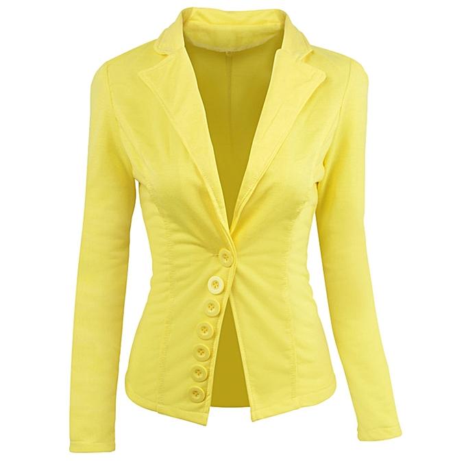 Buy Fashion Jiuhap Store Women Casual Slim Suit Blazer Top Ladies