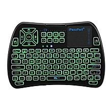 iPazzPort KP-810-61-RGB Italian Three Color Backlit Mini Keyboard Touchpad Airmouse