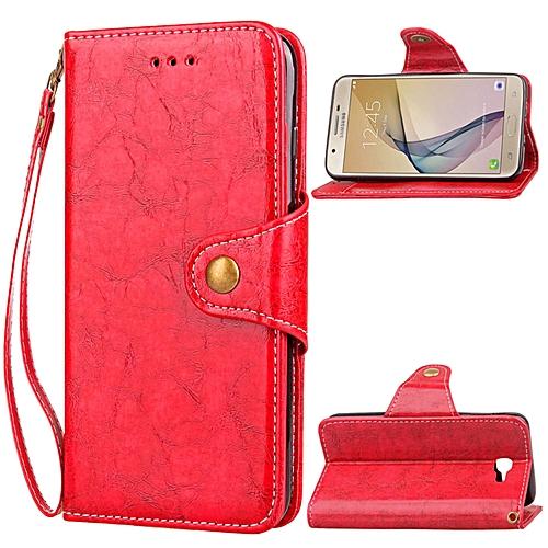 Leather Business Card Holder Hidden Wallet Flip Cover Case for Samsung  Galaxy J5 Prime
