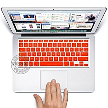 "13"" Air Skin, US Type French Silicone Keyboard Cover For 2008-2015 Macbook 13.3"" 15"" Pro Reitna/Imac G6, Orange"