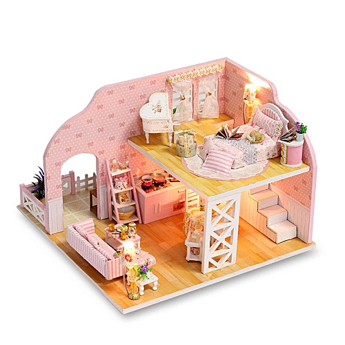 Superb 3D Wooden Diy Miniature House Furniture Led House Puzzle Decorate Creative Gifts Download Free Architecture Designs Scobabritishbridgeorg