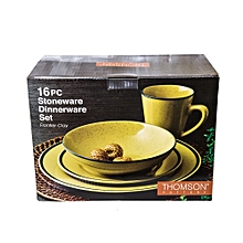 16pc - Frontier Clay Dinner Set - Yellow