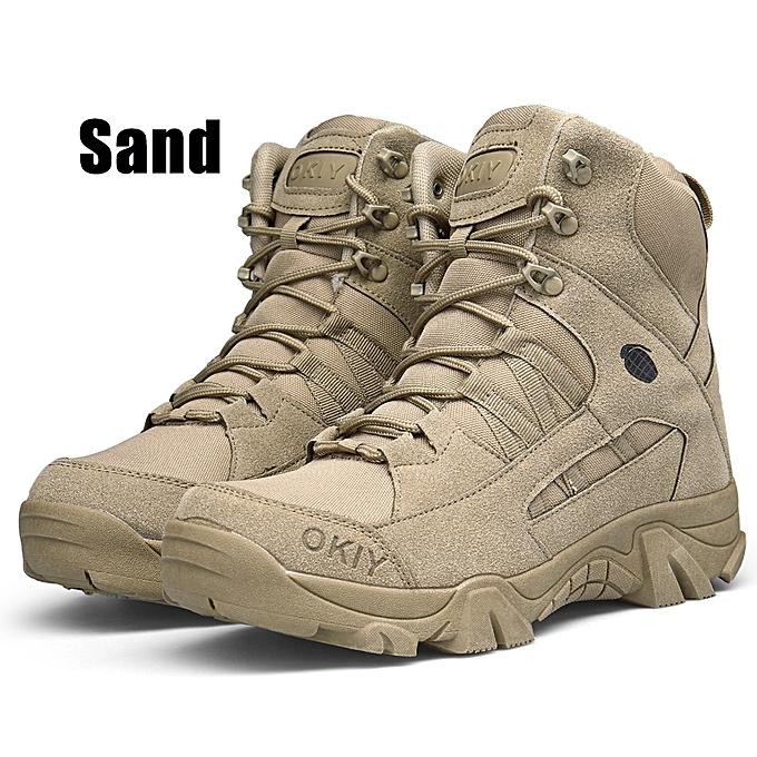 1eeceafa3e Men's Commando Fight Desert Outdoor High Bangs Hiking Boots Landing  Tactical Military Shoes