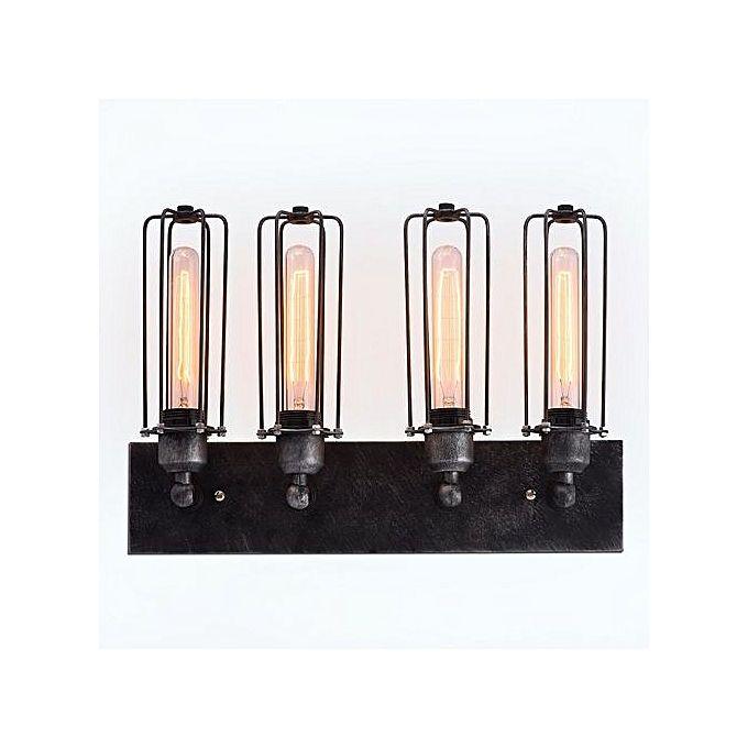 Wall Light Jumia: Generic S4005 Cylinder 4 Lights Cage Vanity Lighting Wall