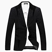 Men's Hot Sale NEW Spring Casual Jacket Men's Clothing Blazers Top Suit Jacket-black