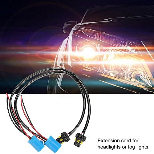 generic 2pcs 9007 sockets to 9006 bulbs wire harness headlight fog light  conversion adapter cable