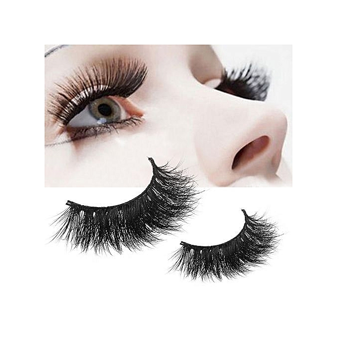 Qibest Bluerdream 1 Pair Crisscross 3d False Eyelashes Long Thick