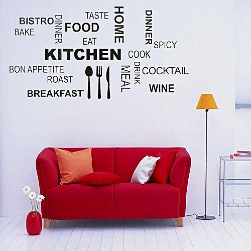 Universal Pvc Wall Sticker English Words Art Deco Room Decoration