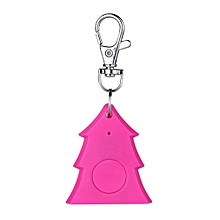 Mini Christmas Tree Shape Smart Tag Bluetooth 4.0 Wallet Key Keychain Finder-rose red