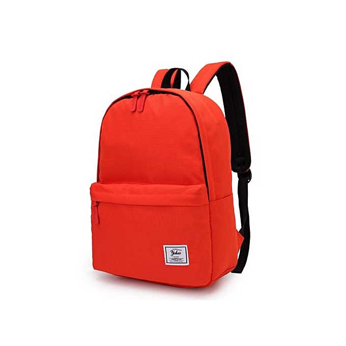 7ffc04ad8939 Campus Wind Backpack Solid Color College High School Student Bag Travel  Backpack-Orange