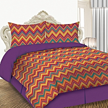 4 Piece Comforter Set - Queen Size - Zigzag