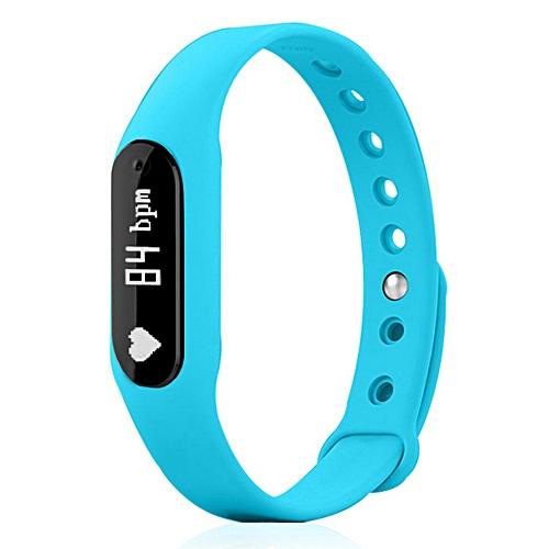 C6 Bluetooth 4.0 Smart Bracelet w/ Heart Rate Monitor - Blue