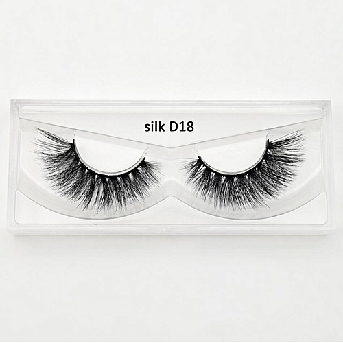 1b1baa34d87 Generic 3d silk eyelashes crisscross handmade false eyelashes 3D strip silk  eyelashes thick faux mink eyelashes Makeup 10 style(silk D18)