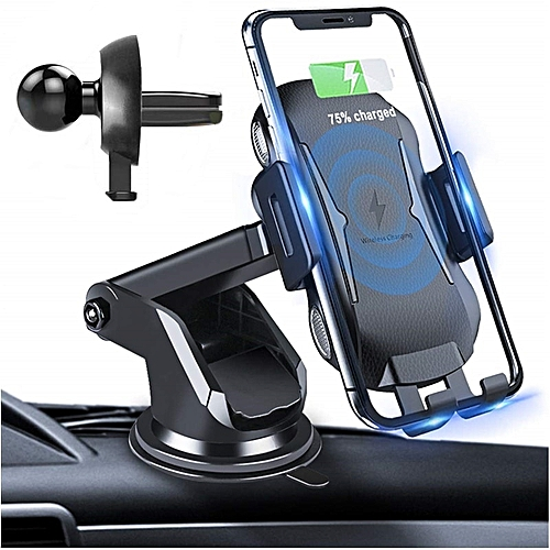 ad4032ca5a4 Generic New 10w Car Holder Qi Wireless Charger for iPhone X 8 7 Automatic  Mount Fast Wireless Charger for Samsung Cargador Inalambrico(Car Wireless  Charger)