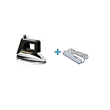 Philips HD1172 - Dry Iron Box No.1 + a FREE Heavy Duty 4-Way Socket Extension Cable