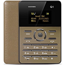 Mini Basic Phone 1.0 Inch Ultra thin FM Audio Player Sound Recorder Alarm Students Children Cell Phone-brown