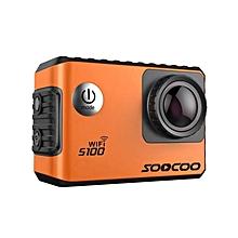 SOOCOO S100 Action Camera 4K Wifi Built-in Gyro With GPS Extension Waterproof Orange JY-M