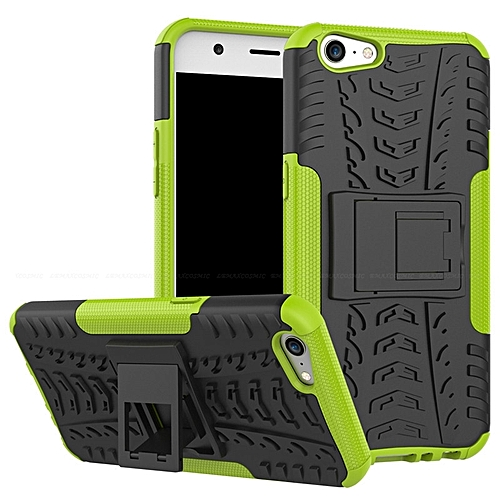 2 In 1 Combo For OPPO F1 PLUS Protective Phone Back Cover Case Soft TPU PC  Combo Shockproof Rugged Hybrid Rubber Kickstand 173892 c-1 (Color:Main
