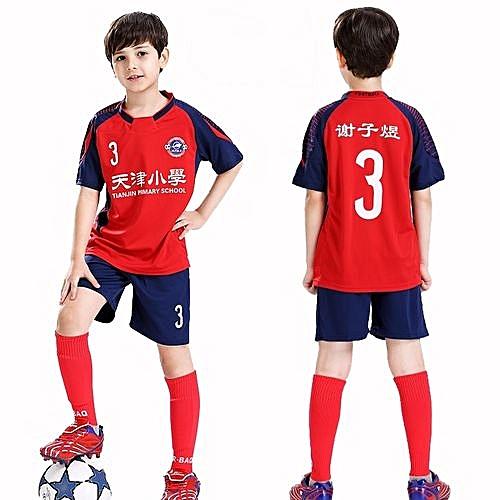 3307a4407 Longo Customized Blank Children Boy s Brand Football Soccer Team Training Jerseys  Uniform-Red