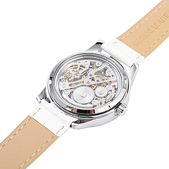 ... Winner F1205254 Women Automatic Hand-wind Movement Mechanical Watch Rubber Strap ...