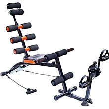 Six Pack Wonder Core - Gym ABS Exercise Fitness Machine with Peddles Cycle - Bench Chair Bike