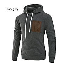 Long Sleeved Hooded Man Hoodies Fashion Patchwork Warm Sweatshirt Pullovers