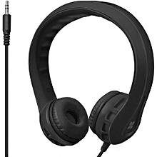 Flexure- Black Flexible Lightweight Kids-safe On-Ear Foam Headset