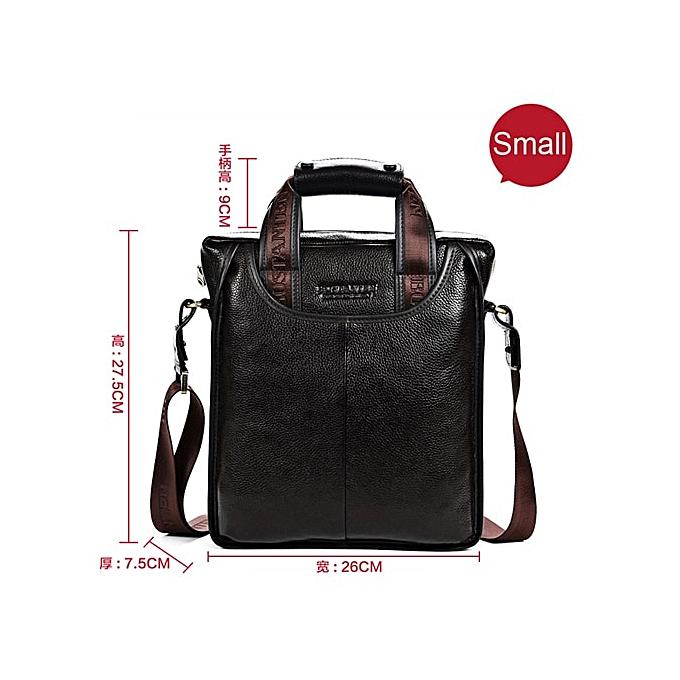 11b83457968f Bostanten 100% Top LEATHER Cowhide Shoulder Leisure Men's Bag Business  Messenger Portable Briefcase Laptop Casual Purse