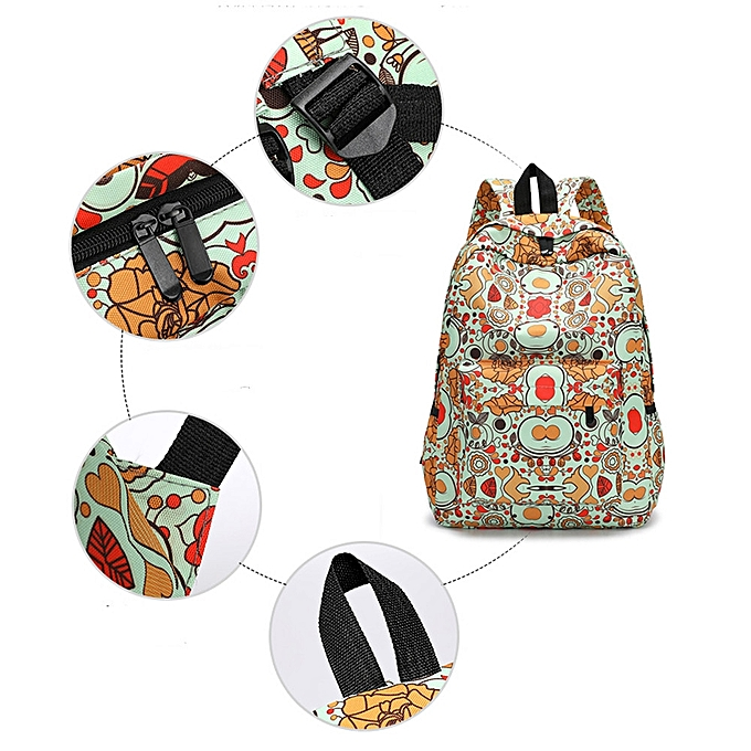 Generic Tectores Fashion Trend Fresh Style Women Backpacks Floral Print  Bookbags Female Travel Backpack Gift a99cf6a5ffc16