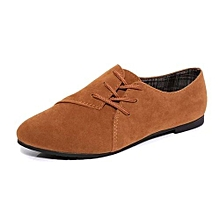 Women Lace Up Flat Shoes Head Shoes Low To Help Flat Bottom Casual Shoes BW/35
