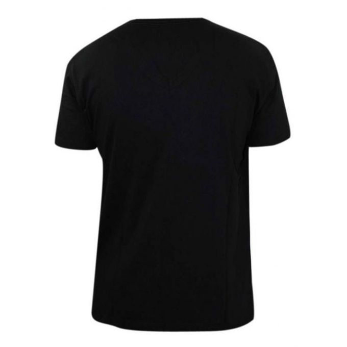 Generic plain black v neck t shirt buy online jumia kenya for T shirt plain black