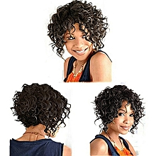 Short Black Afro Curly Hair Replacement Wigs For Women With Bangs