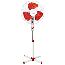 16'' Electric Stand Fan SSF101 - White & Red