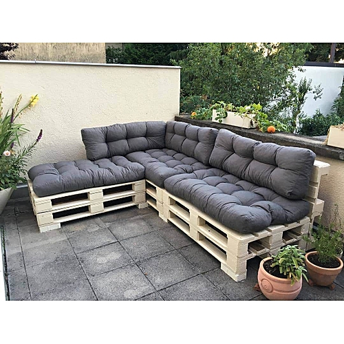 Buy Superior Furniture Pallet Fabric L-Shape 5 Seater