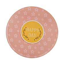 HAPPY DAY Colorful Silicone Cup Drinks Holder Mat Tableware Placemat-Pink