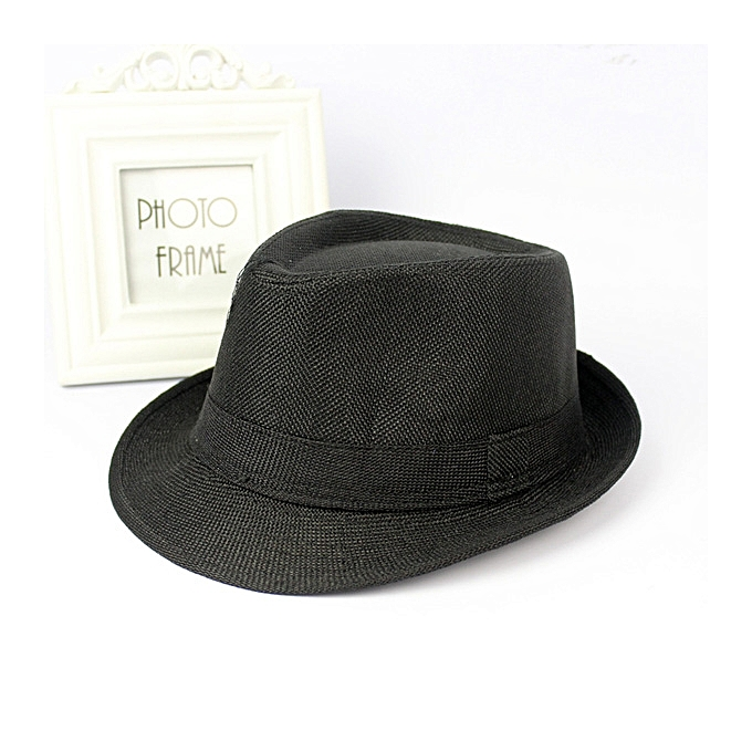 Men Women Cotton Wide Brim Panama Fedora Hats Jazz Caps Top Beach Visor Hat 4b6d48b14
