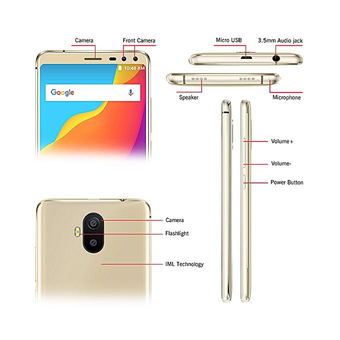 S1 Android 8 1 18:9 5 5 Inch MT6580 Quad Core 2GB RAM 16GB ROM Four Camera  8MP+2MP Rear Dual-camera 5000mAh Smartphone