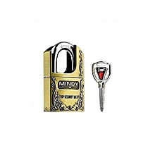 Highly Hardened Padlock- Mindy padlock - Gold Brown