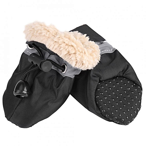 Generic 4Pcs set No Slip Pet Dog Shoes Boots Waterproof Dog Socks Soft  Cotton Padded Black  3   Best Price  9f74e31ec8f8
