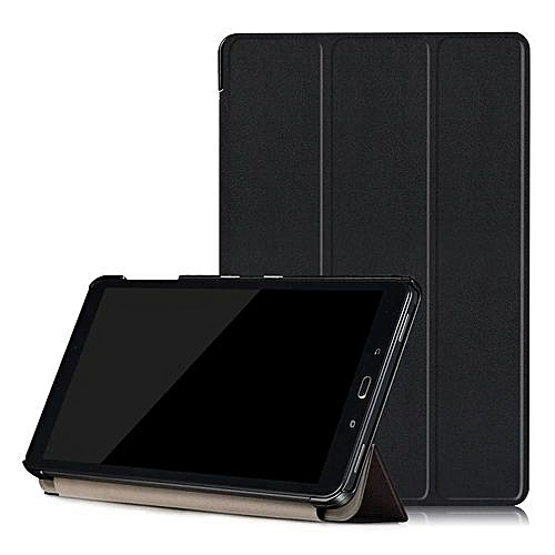 For Samsung Galaxy Tab A 10.1 (2016) SM-P580 -P585  Leather Case Cover BK