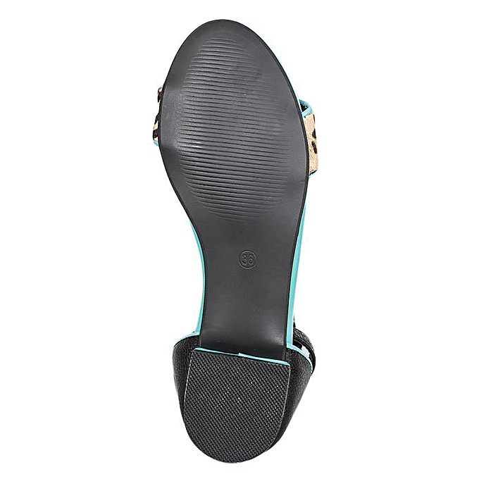 e9f6d2773b87 MAKEOVER COLLECTION Blue Cheetah Print Sandals   Best Price