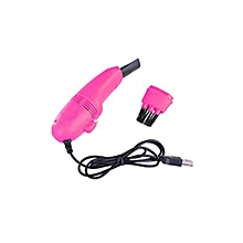 Mini USB Vacuum Keyboard Cleaner Dust Collector Laptop Computer Cleaning Wipe Plum